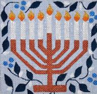 click here to view larger image of Menorah (hand painted canvases)
