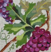 click here to view larger image of Wine Grapes (hand painted canvases)