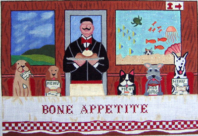 click here to view larger image of Bone Appetite (hand painted canvases)