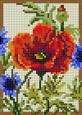 click here to view larger image of Summer Poppy (hand painted canvases)