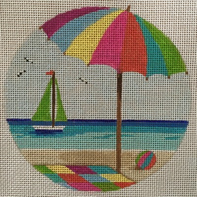 click here to view larger image of Beach Day (hand painted canvases)