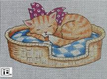 click here to view larger image of Cat Nap (hand painted canvases)