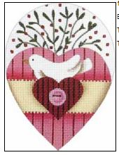 click here to view larger image of Button Bird Heart (hand painted canvases)