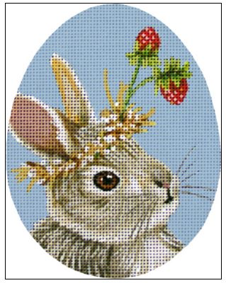 click here to view larger image of Bonnie The Bun Egg (hand painted canvases)