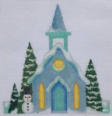 click here to view larger image of Glitter Church (hand painted canvases)