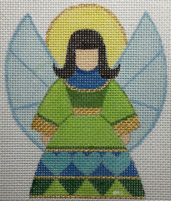 click here to view larger image of Blue Angel (hand painted canvases)