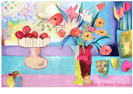 click here to view larger image of Spring Bounty (hand painted canvases)