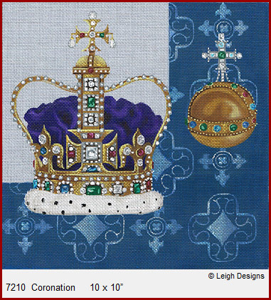 click here to view larger image of Coronation - Crown Jewels (hand painted canvases)