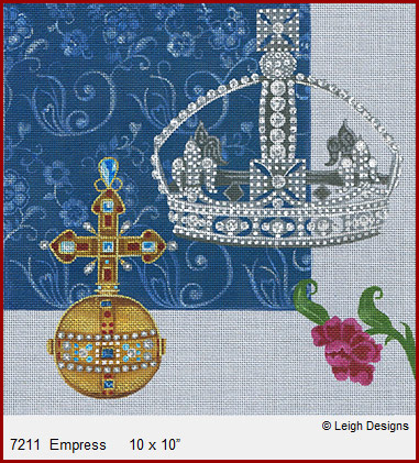 click here to view larger image of Empress - Crown Jewels (hand painted canvases)