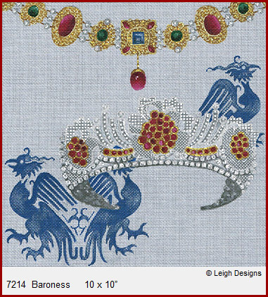 click here to view larger image of Baroness - Crown Jewels (hand painted canvases)