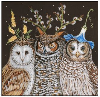 Hootenanny Owls hand painted canvases