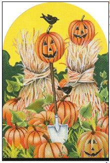 click here to view larger image of Pumpkin Patch (hand painted canvases)