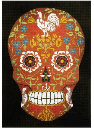 click here to view larger image of Day Of The Dead Sugar Skull (hand painted canvases)