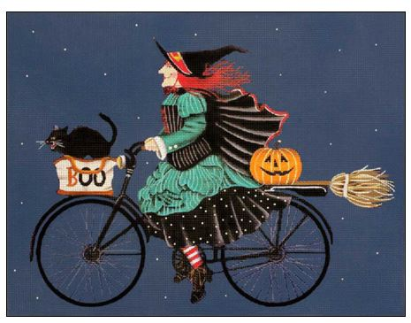 click here to view larger image of Witch's Ride (hand painted canvases)