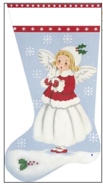 click here to view larger image of Bunny Angel Sock (hand painted canvases)