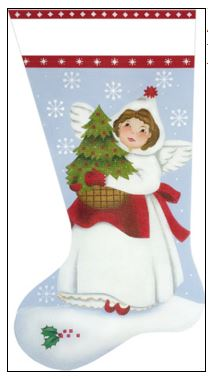click here to view larger image of Angel Tree Sock (hand painted canvases)