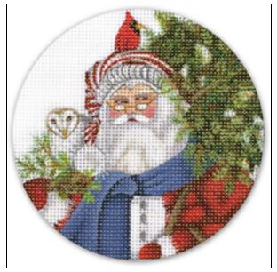 click here to view larger image of Woodsy Santa Ornament (hand painted canvases)