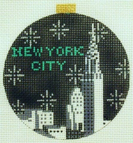 click here to view larger image of City Bauble - NYC Skyline (hand painted canvases)