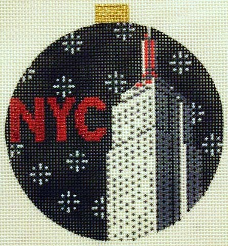 click here to view larger image of City Bauble - NYC Empire State Building (hand painted canvases)