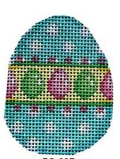 click here to view larger image of Aqua Dots/Eggs Mini Egg (hand painted canvases)