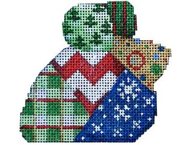 click here to view larger image of Chevron Patch Christmas Mouse (hand painted canvases)