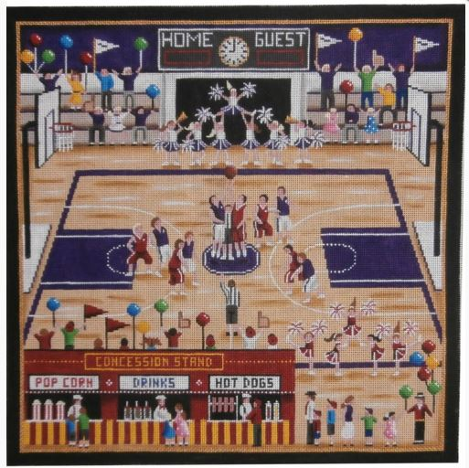 click here to view larger image of Basketball Court (hand painted canvases)