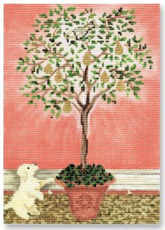 click here to view larger image of Partridge in a Pear Tree (hand painted canvases)