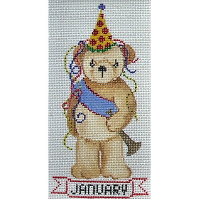 click here to view larger image of January - New Year (hand painted canvases)