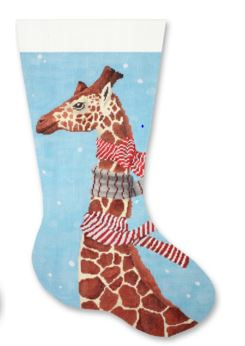 click here to view larger image of Giraffe with Scarves Stocking (hand painted canvases)