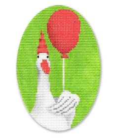 click here to view larger image of Goose w/Balloon (hand painted canvases)