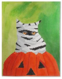 click here to view larger image of Happy Purrfect Halloween (hand painted canvases)
