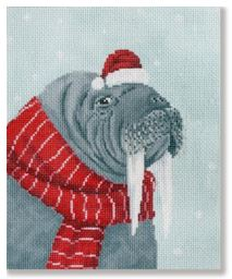 click here to view larger image of Walrus w/Red Scarf (hand painted canvases)