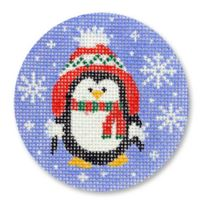 click here to view larger image of Penguin w/Hat (hand painted canvases)