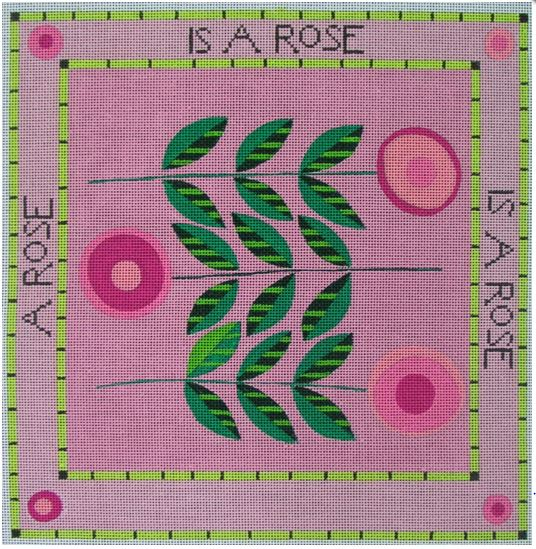 click here to view larger image of Rose, A - 13ct (hand painted canvases)