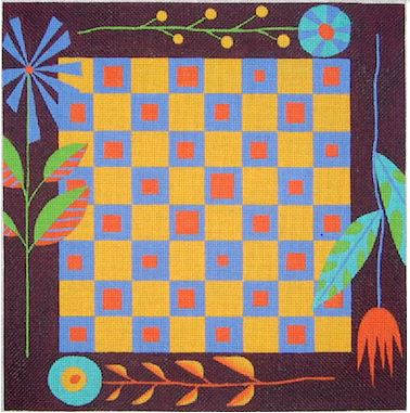 click here to view larger image of Leaves Game Board - 18ct (hand painted canvases)