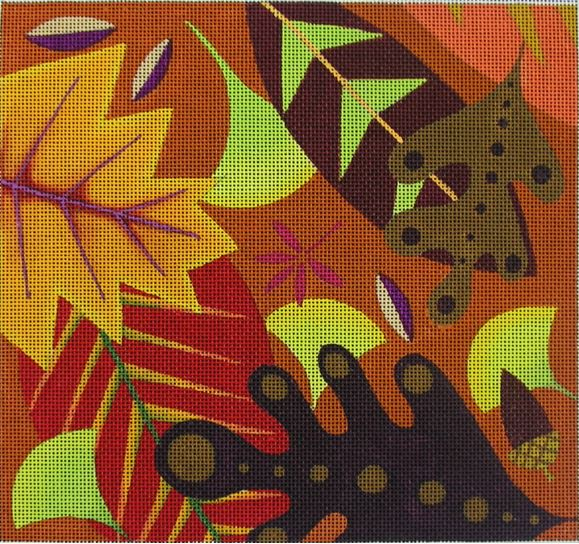 click here to view larger image of Falling Leaves - 13ct (hand painted canvases)