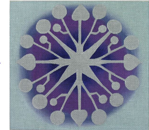 click here to view larger image of Snowflake (hand painted canvases)
