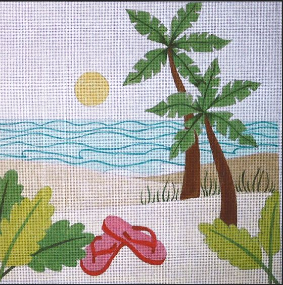 click here to view larger image of Beach Walk (hand painted canvases)