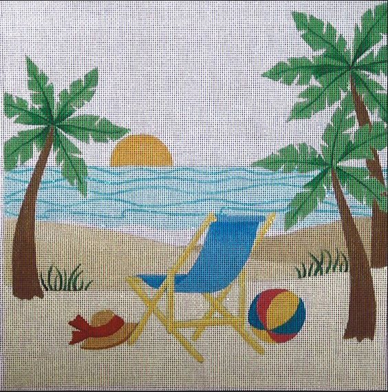 click here to view larger image of Beach Rest (hand painted canvases)