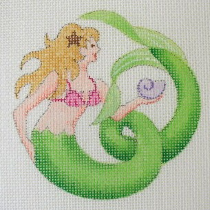 click here to view larger image of Nautilus Mermaid Coaster (hand painted canvases)