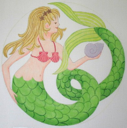 click here to view larger image of Nautilus Mermaid - 13ct (hand painted canvases)