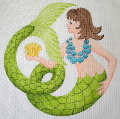click here to view larger image of Scallop Mermaid - 13ct (hand painted canvases)