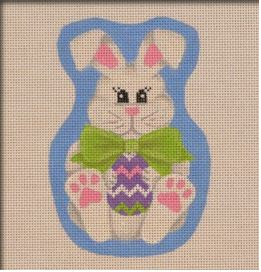 click here to view larger image of Bow Tie Bunny (hand painted canvases)