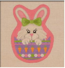 click here to view larger image of Peeking Bunny (hand painted canvases)