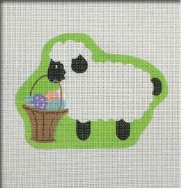 click here to view larger image of Lamb With Basket (hand painted canvases)