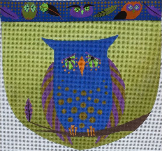 click here to view larger image of Owl Pouch (hand painted canvases)