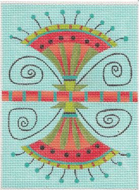 click here to view larger image of Lotus Needle Case (hand painted canvases)