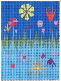 click here to view larger image of Spring Garden Needle Case (hand painted canvases)