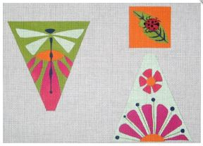 click here to view larger image of Spring Garden Scissor Case and Fob (hand painted canvases)