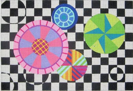 click here to view larger image of Circles and Squares (hand painted canvases)